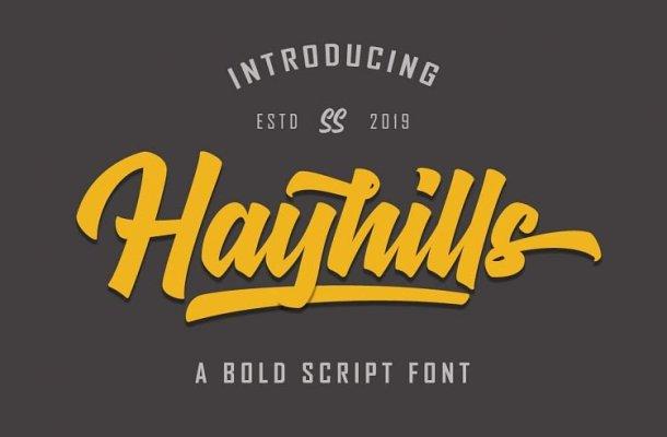 Hayhills Bold Script Font Free