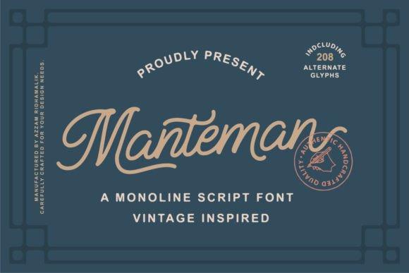 Manteman Monoline Script Font