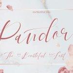 Pandora Calligraphy Font