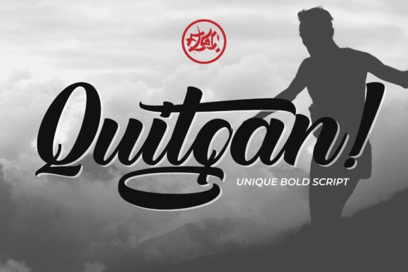 Quitgan Bold Script Font Free