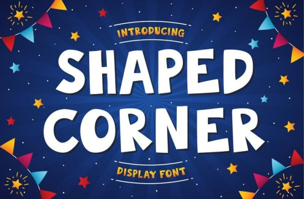 Shaped Corner Display Font Free