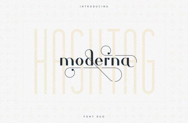 Hashtag Moderna – Duo Font