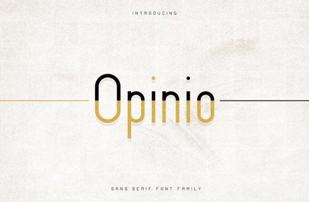 Opinio – Sans Font Family