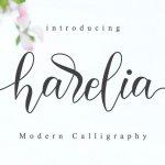 Harelia – Lovely Script Font