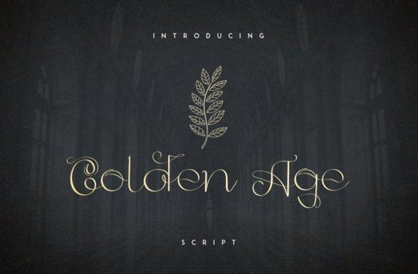 Golden Age Script Font