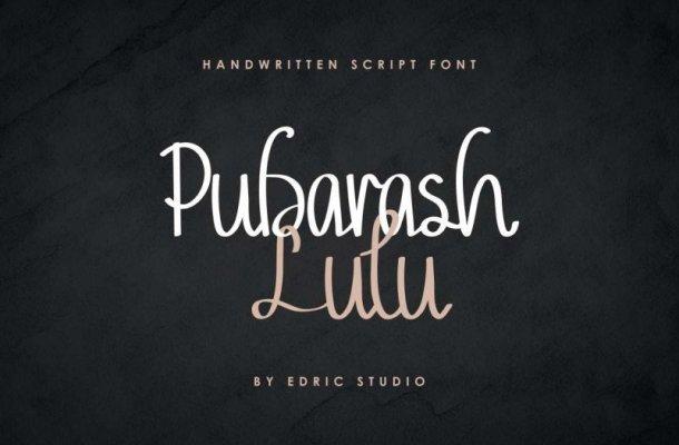 Pubarash Lulu Handwritten Font
