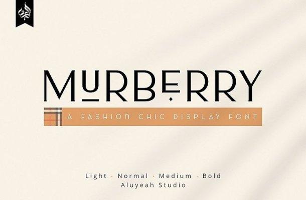 AL Murberry Display Font
