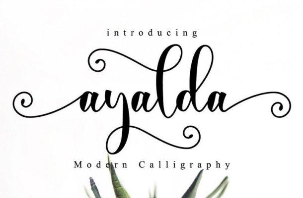 Ayalda Calligraphy Font