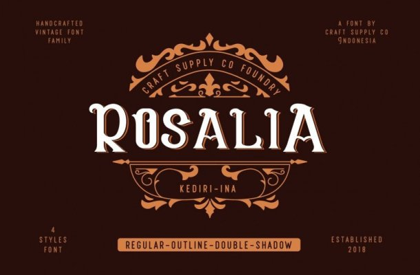 CS Rosalia Display Font