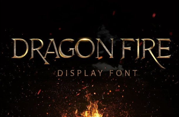 Dragon Fire Display Font