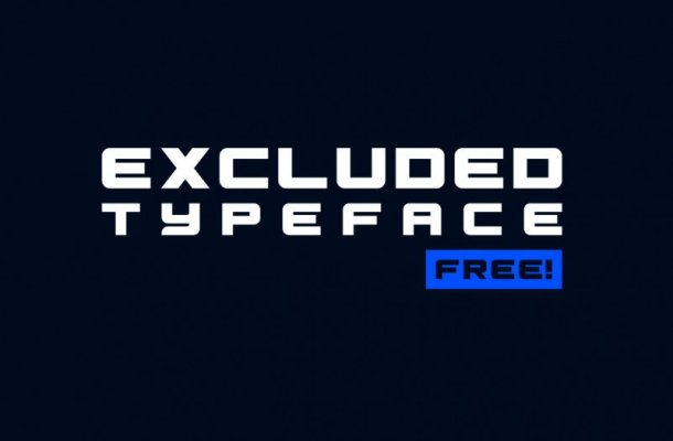 Excluded Typeface Free
