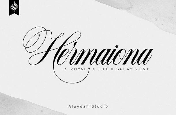 Hermaiona Script Font
