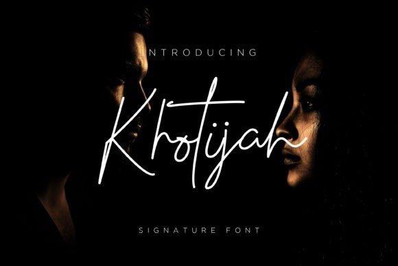 Khotijah Signature Font