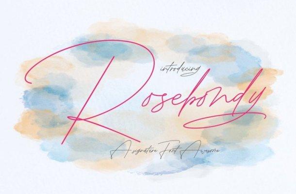 Rosebondy Script Font