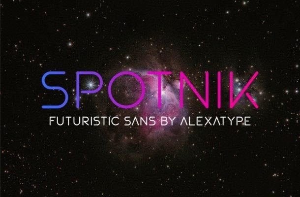 Spotnik – Geometric Font