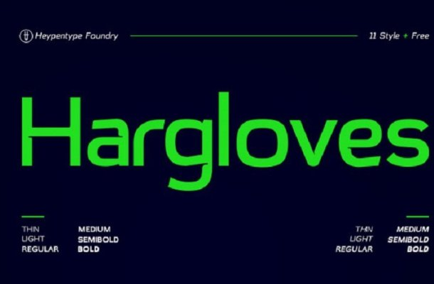 Hargloves Sans Font