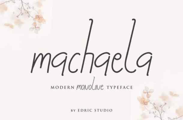 Machaela Handwritten Font