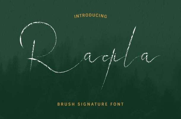Raqila Rough Brush Signature Font