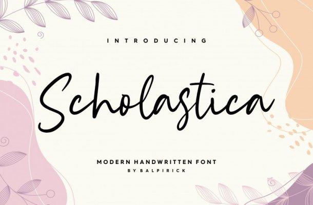 Scholastica Modern Handwritten Font