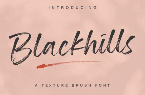 Blackhills Textured Brush Font