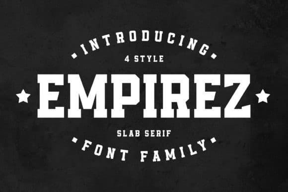 Empirez Slab Serif Font