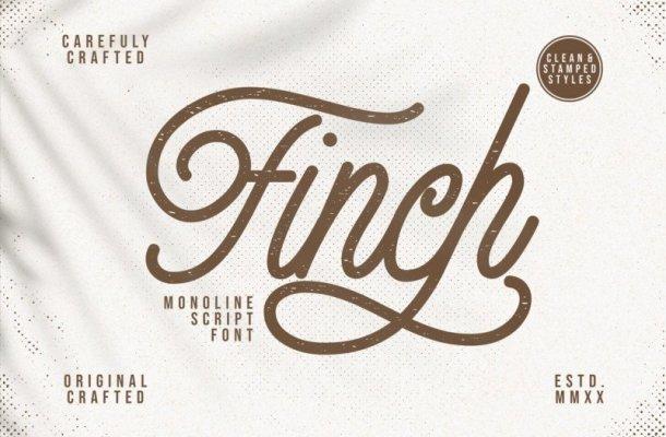 Finch – Monoline Script Font
