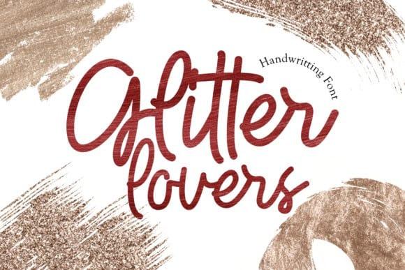 Glitter Lovers Script Font