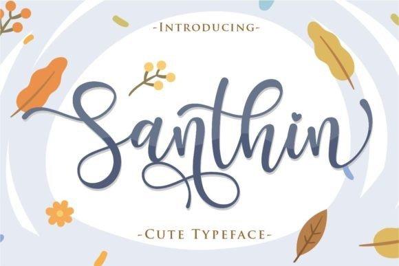 Santhin Script Font