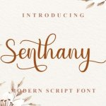 Senthany Script Font