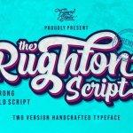 The Rughton Bold Script Font
