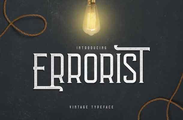 Errorist – Vintage Typeface