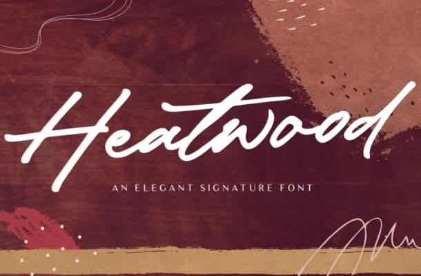 Heatwood – Elegant Signature Font