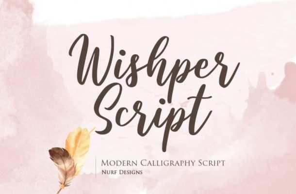 Wishper Script Font