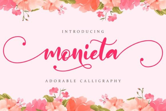 Monieta Calligraphy Font