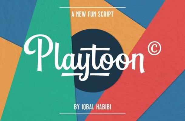Playtoon Fun Script Font