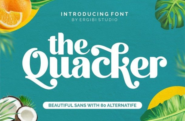 Quacker Beautiful Sans Font