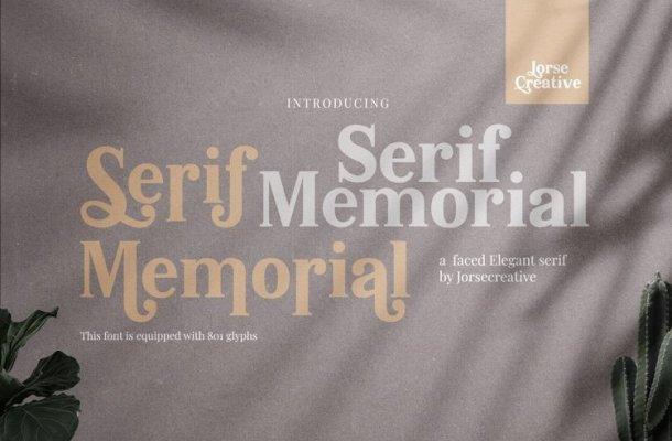 Serif Memorial Font