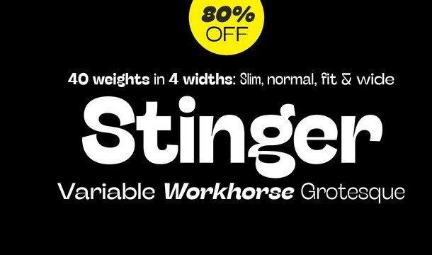 Stinger Sans Font Family
