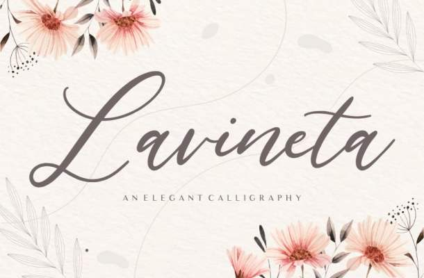 Lavineta Elegant Calligraphy Font