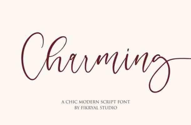 Charming – Modern Script Font
