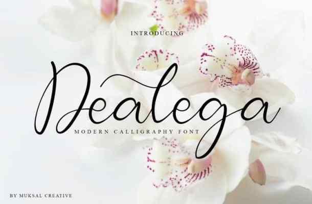 Dealega Calligraphy Font