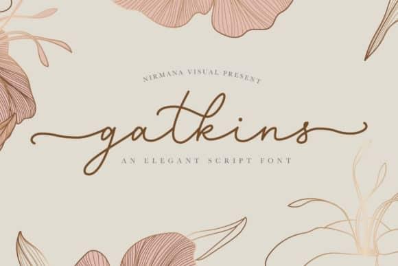 Gatkins Handwritten Font