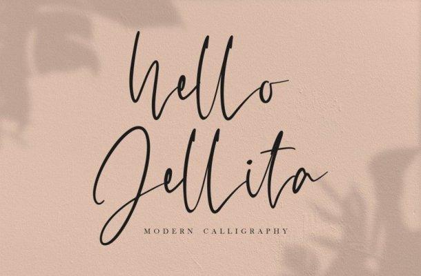 Hello Jellita Script Font