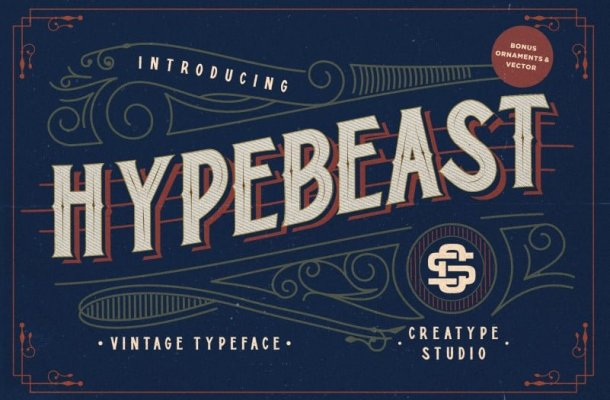 Hypebeast – Layered & Vintage Font