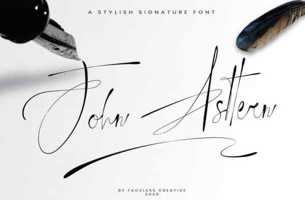 John Asttern Handwritten Font