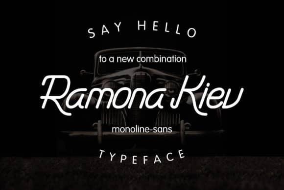 Ramona Kiev – Monoline Font