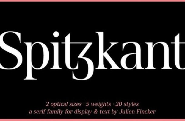 Spitzkant Serif Font