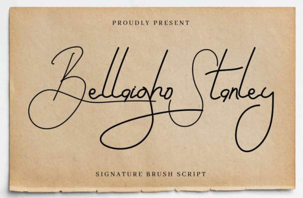 Bellaigho Stanley Script Font
