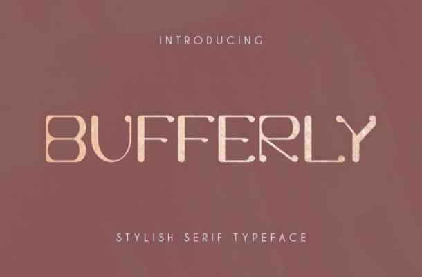 Bufferly Serif Font