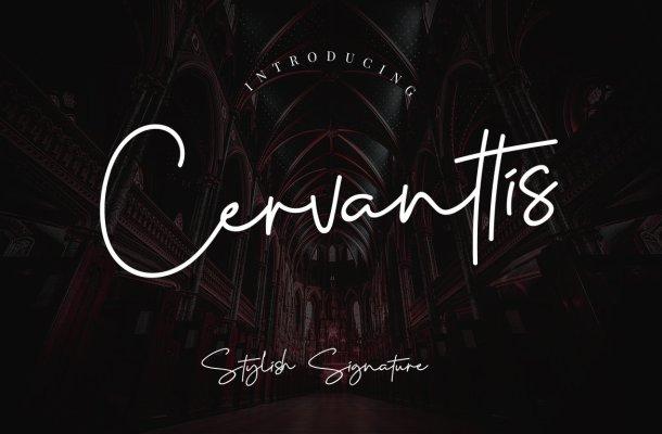 Cervanttis Signature Script Font